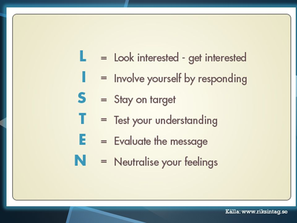 Audiella sättet Lyssna! Ställ frågor- hör svaren