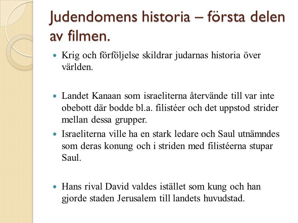 Judendomens historia – första delen av filmen.