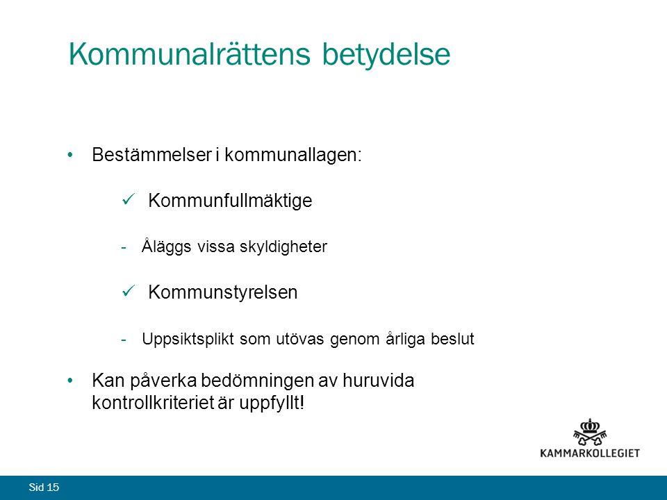 Kommunalrättens betydelse