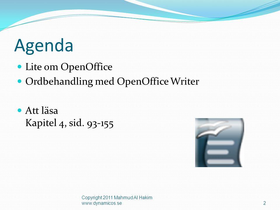 Agenda Lite om OpenOffice Ordbehandling med OpenOffice Writer