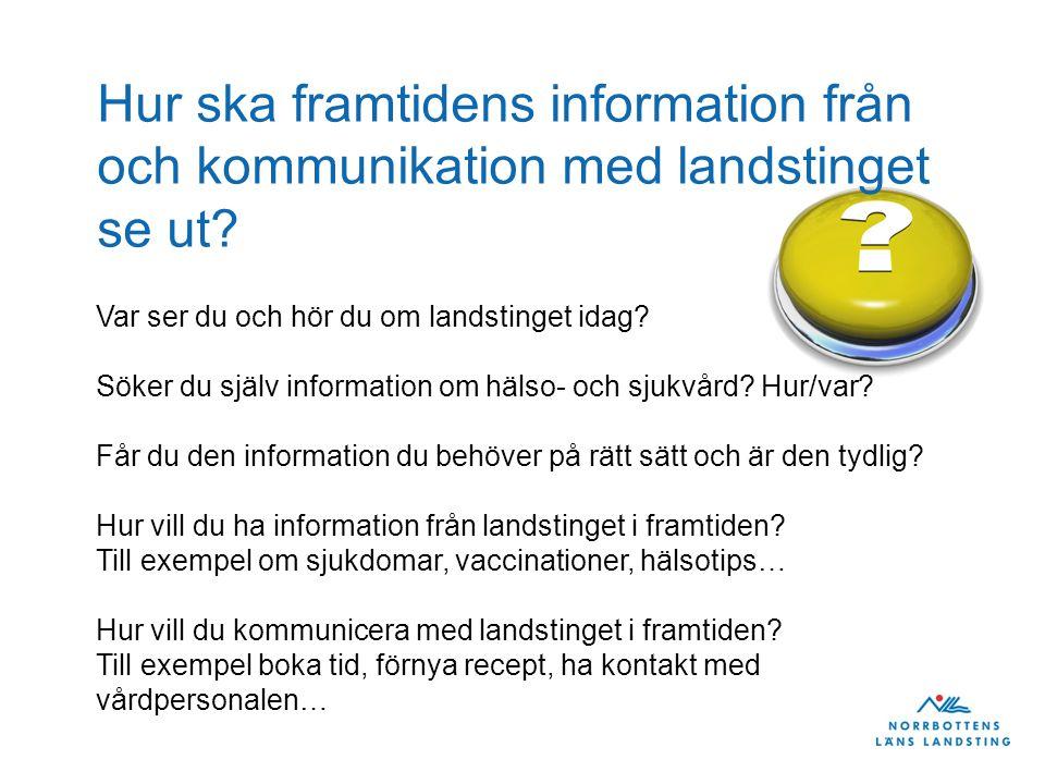 Hur ska framtidens information från och kommunikation med landstinget se ut
