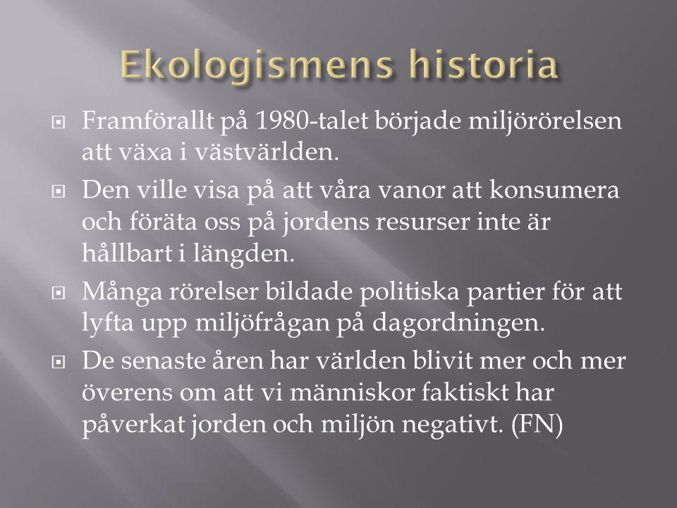 Ekologismens historia