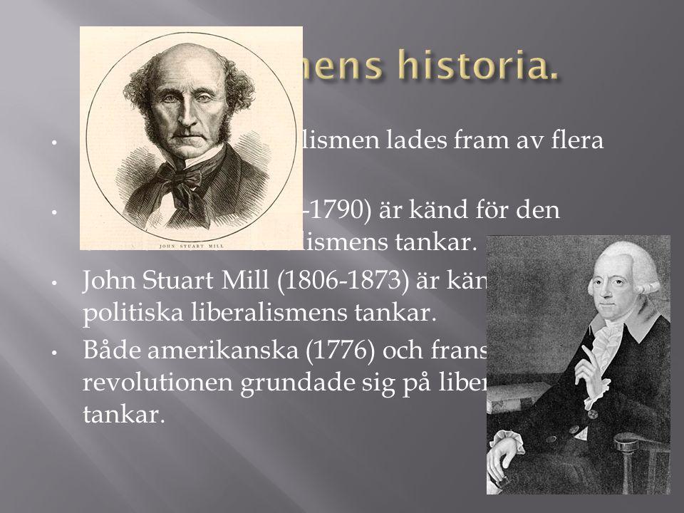 Liberlismens historia.