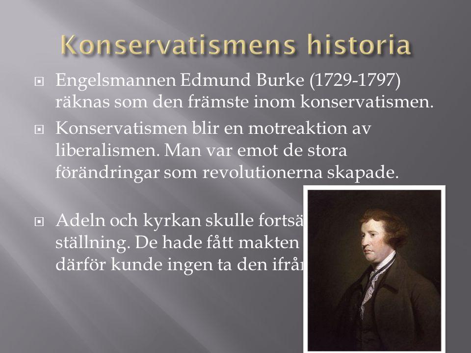 Konservatismens historia