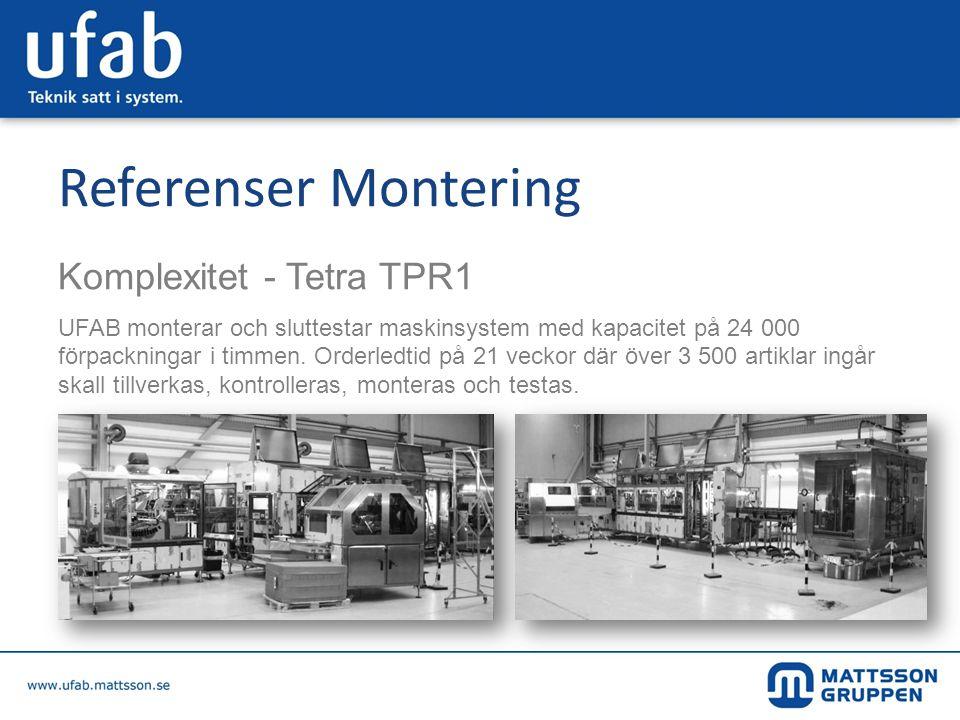 Referenser Montering Komplexitet - Tetra TPR1