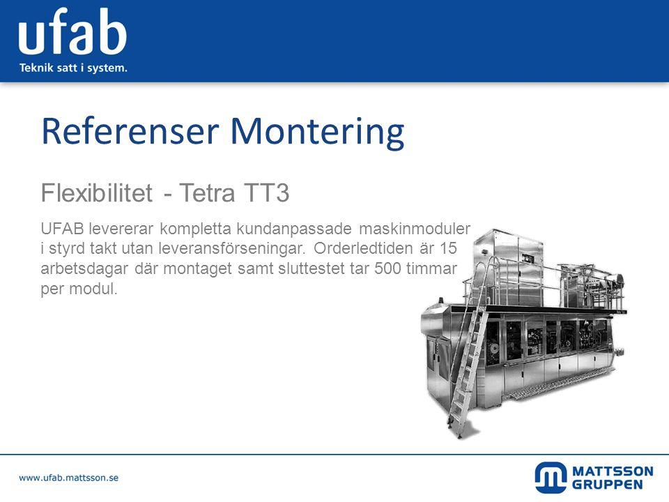 Referenser Montering Flexibilitet - Tetra TT3