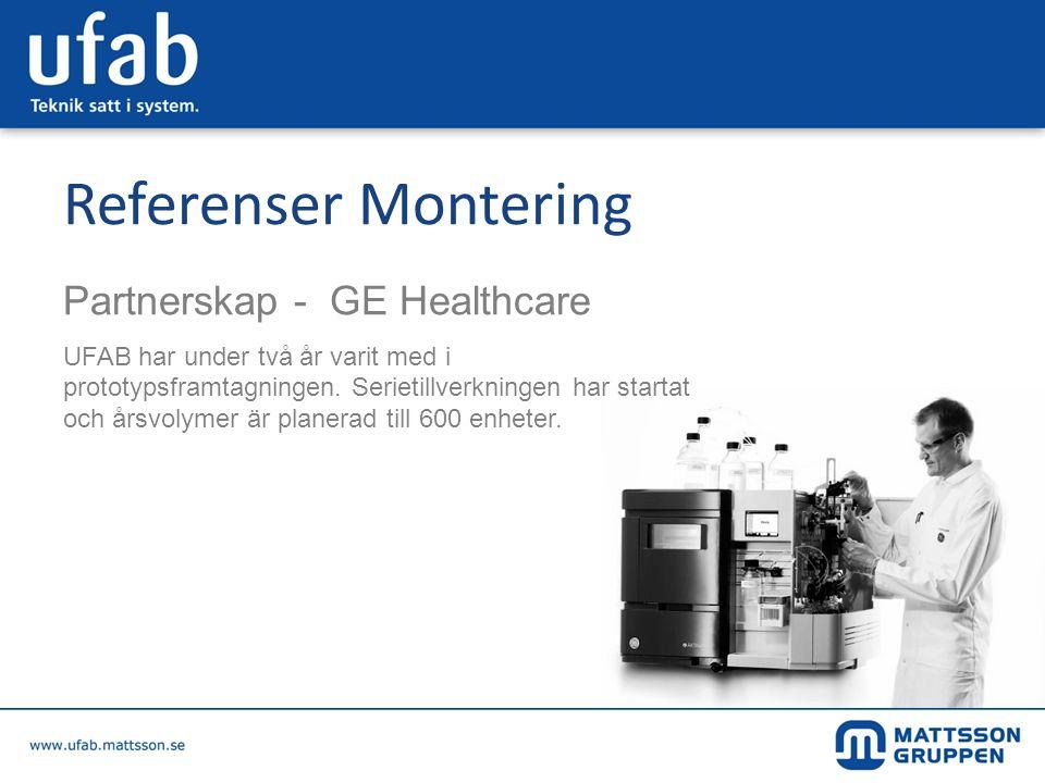 Referenser Montering Partnerskap - GE Healthcare
