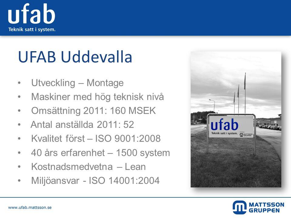 UFAB Uddevalla Utveckling – Montage Maskiner med hög teknisk nivå