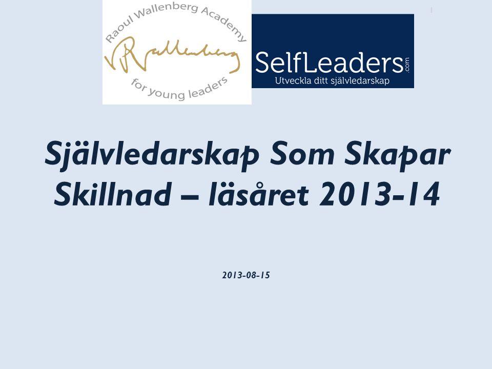 Självledarskap Som Skapar Skillnad – läsåret 2013-14