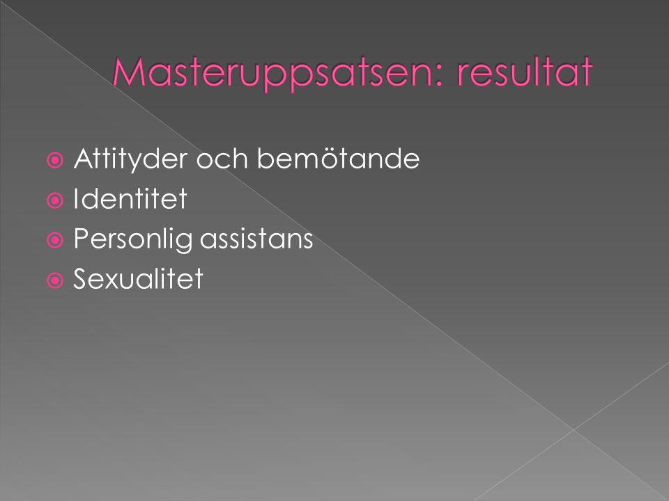 Masteruppsatsen: resultat