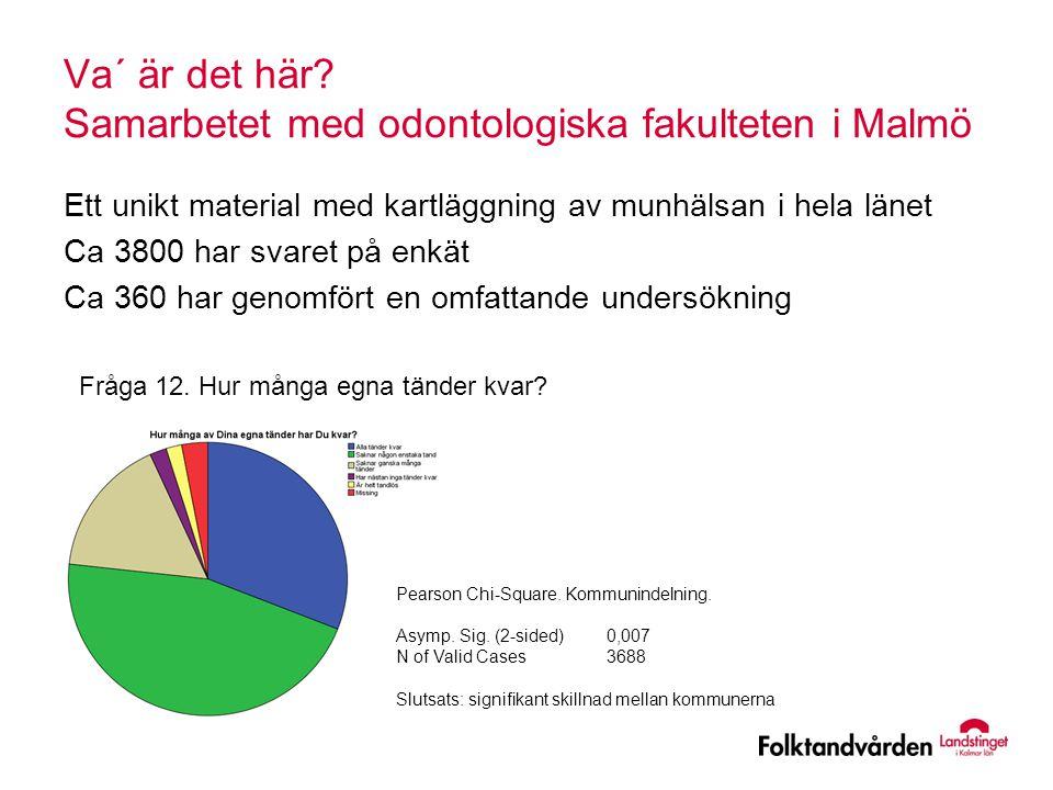 Va´ är det här Samarbetet med odontologiska fakulteten i Malmö