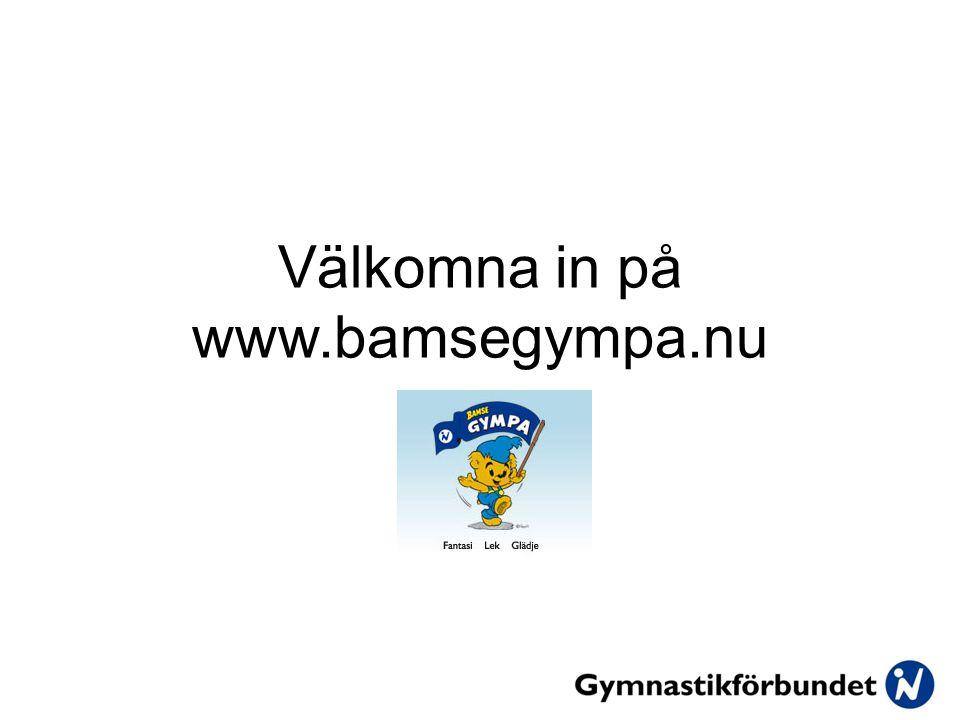 Välkomna in på www.bamsegympa.nu