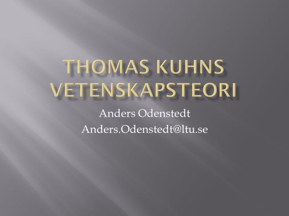 Thomas Kuhns vetenskapsteori
