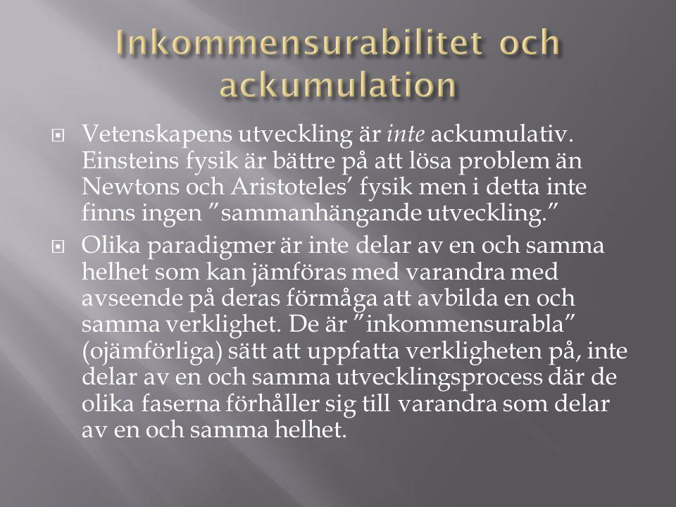 Inkommensurabilitet och ackumulation
