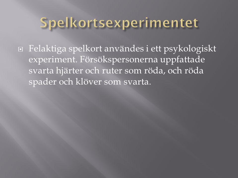 Spelkortsexperimentet