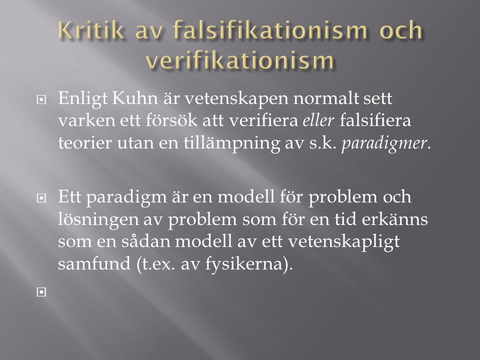 Kritik av falsifikationism och verifikationism