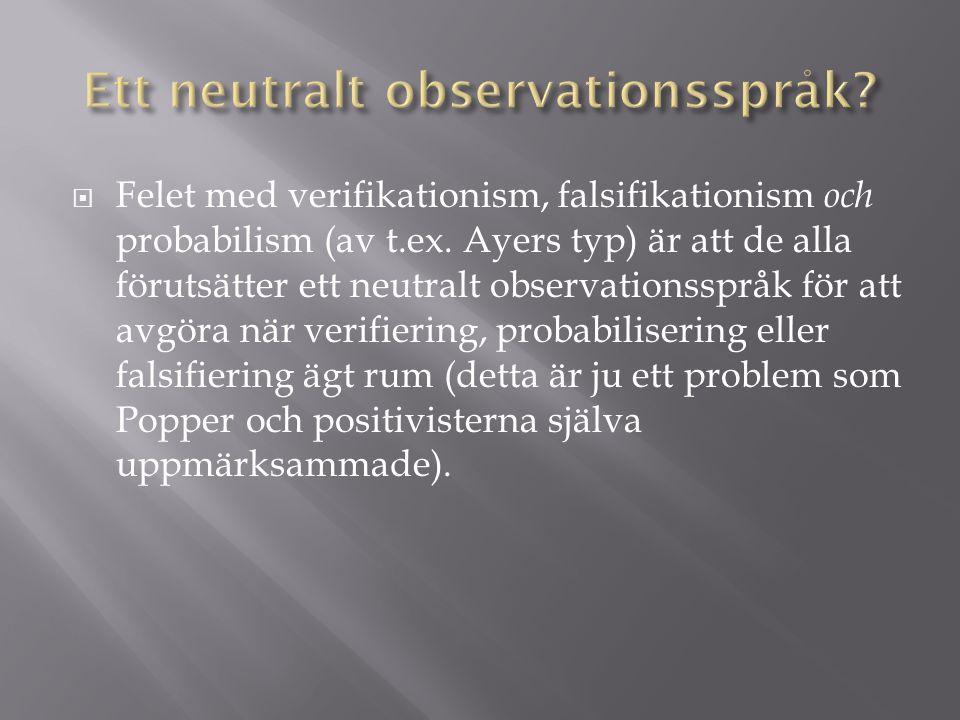 Ett neutralt observationsspråk