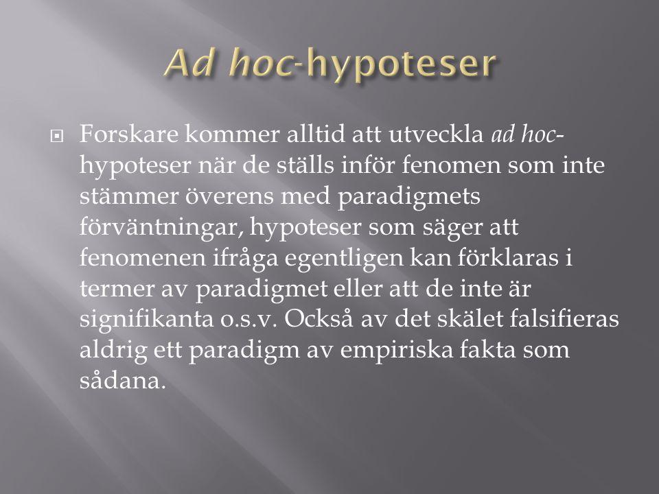 Ad hoc-hypoteser