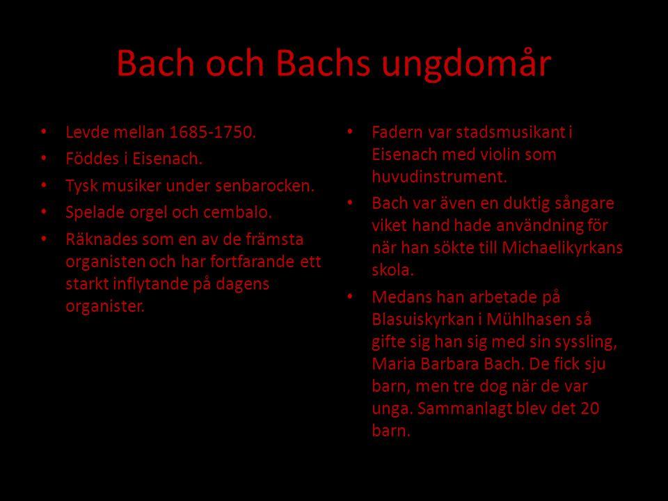 Bach och Bachs ungdomår