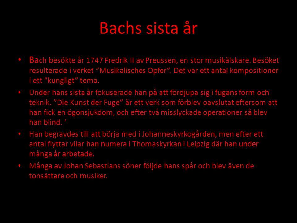 Bachs sista år