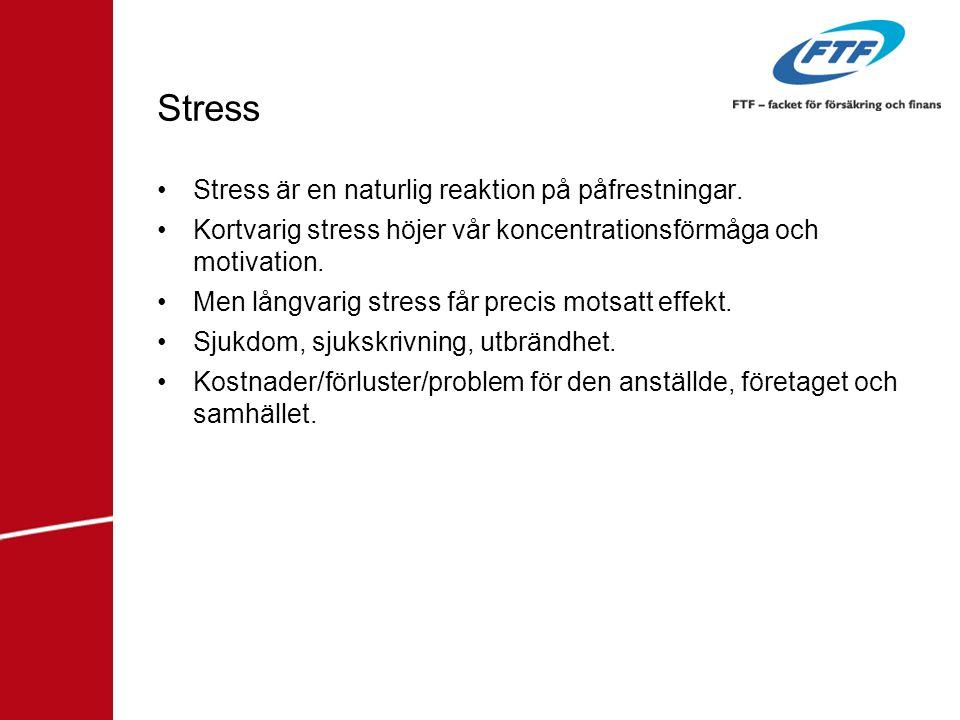 Stress Stress är en naturlig reaktion på påfrestningar.