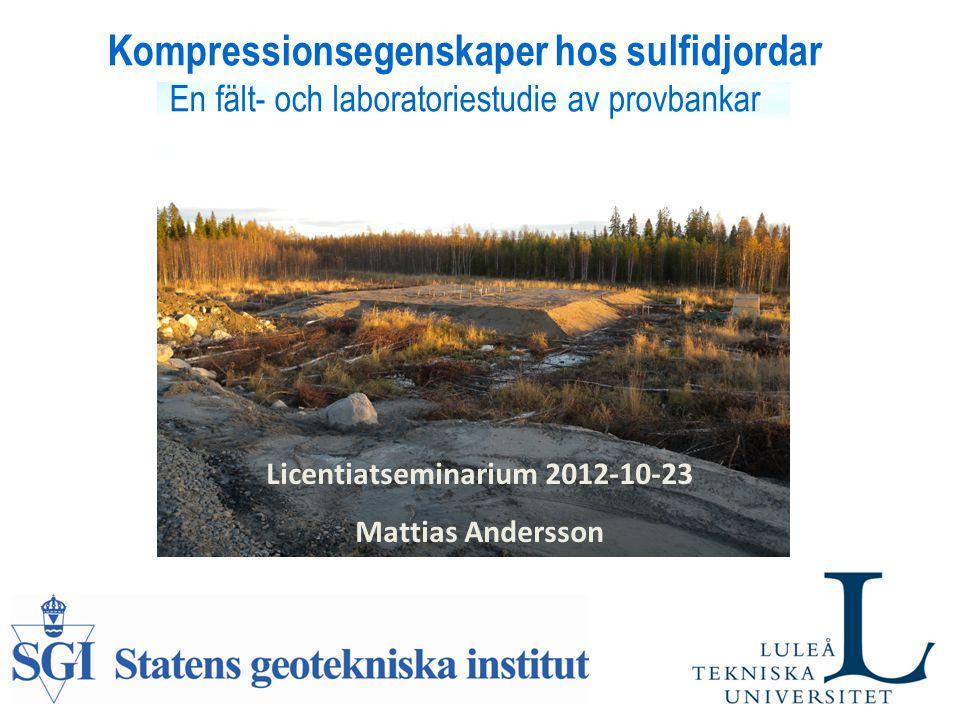 Licentiatseminarium 2012-10-23