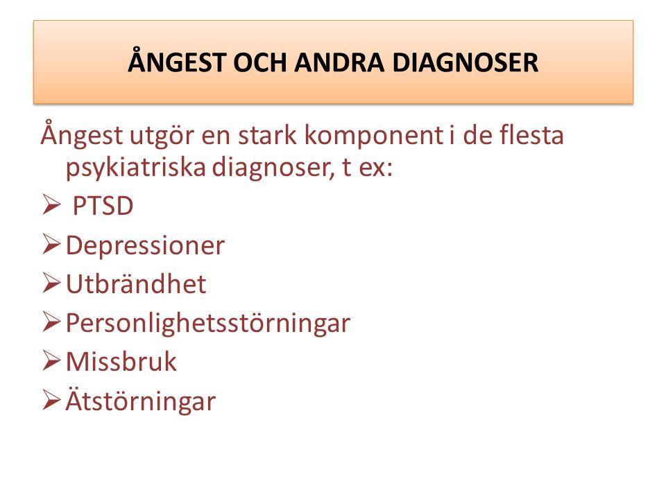 ÅNGEST OCH ANDRA DIAGNOSER