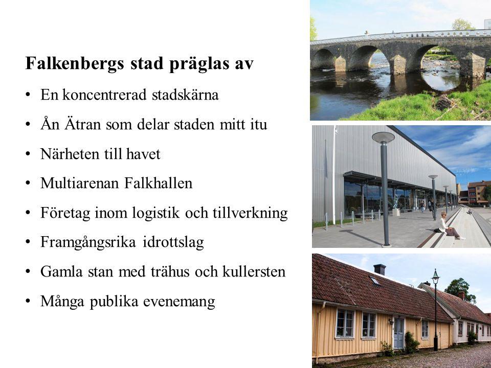 Falkenbergs stad präglas av
