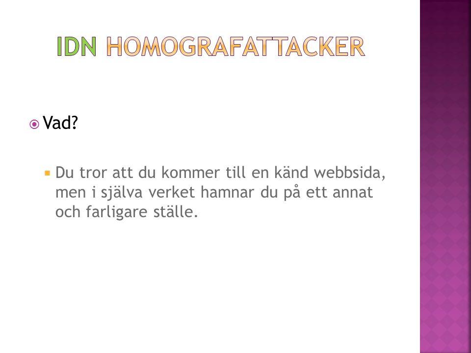 IDN Homografattacker Vad
