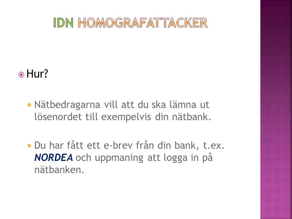 IDN Homografattacker Hur