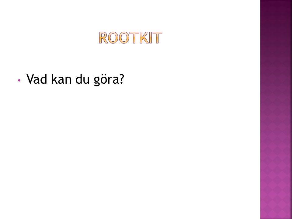 Rootkit Vad kan du göra