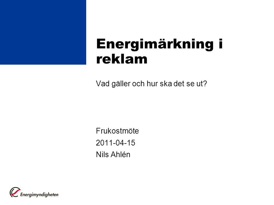 Energimärkning i reklam