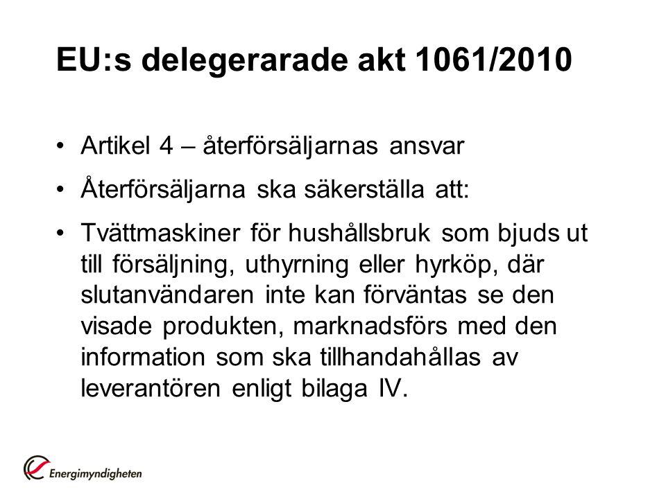 EU:s delegerarade akt 1061/2010