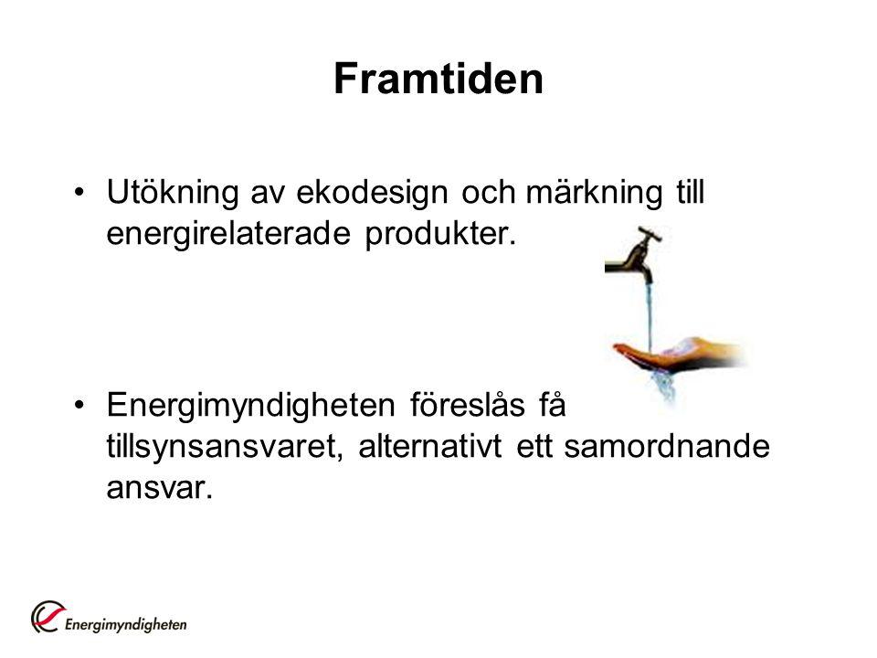 Framtiden Utökning av ekodesign och märkning till energirelaterade produkter.