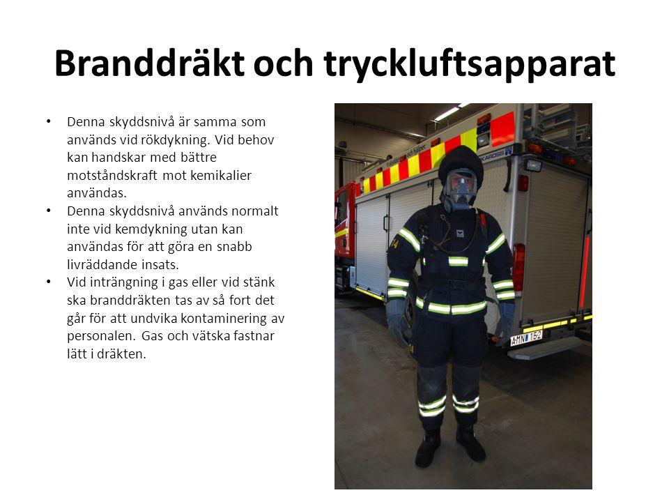Branddräkt och tryckluftsapparat
