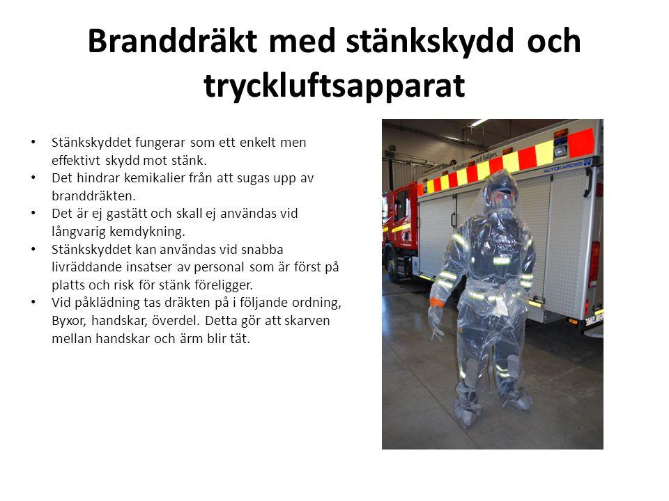 Branddräkt med stänkskydd och tryckluftsapparat