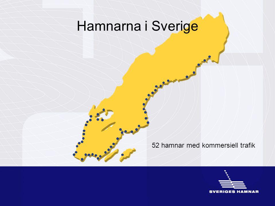 Hamnarna i Sverige 52 hamnar med kommersiell trafik