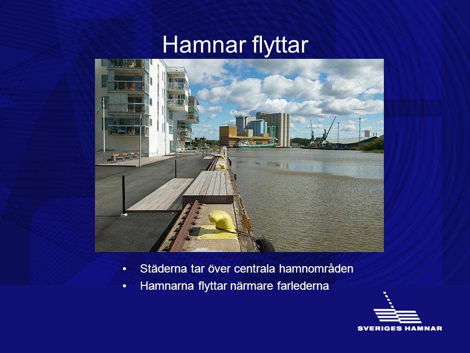 Hamnar flyttar Städerna tar över centrala hamnområden