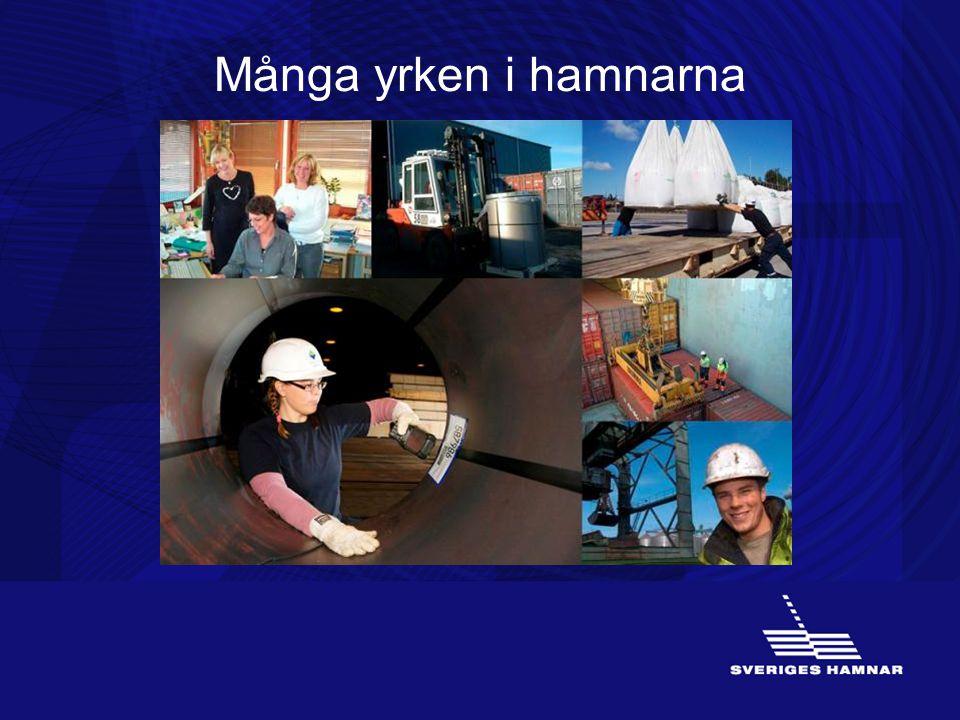 Många yrken i hamnarna (ATT ARBETA I HAMN)