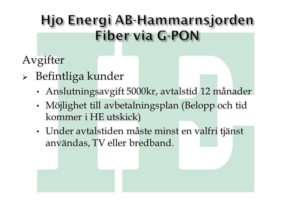 Hjo Energi AB-Hammarnsjorden Fiber via G-PON