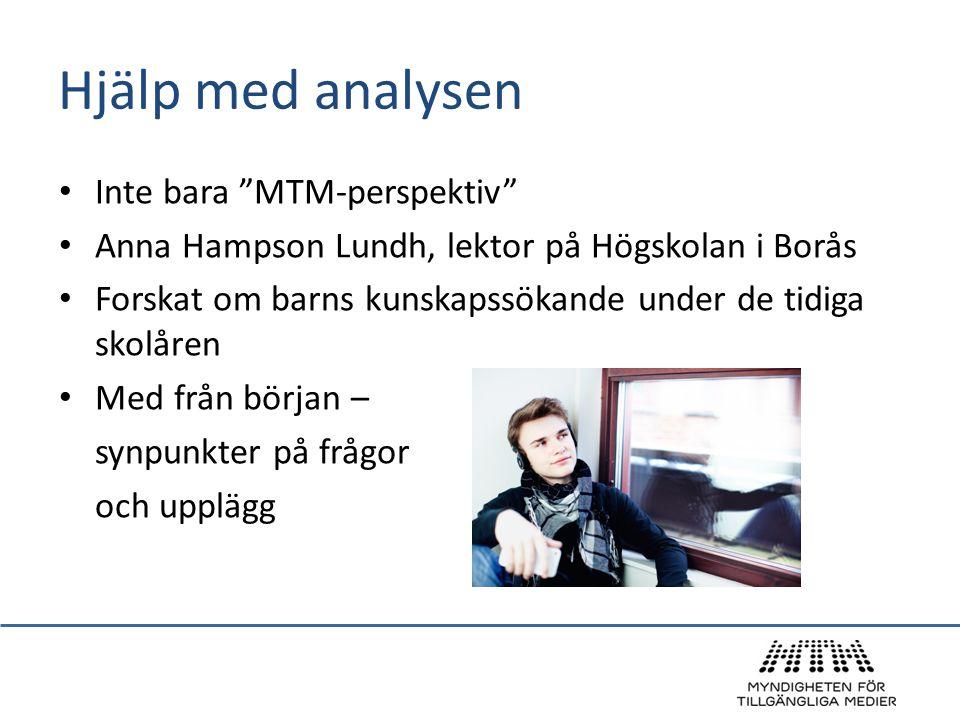 Hjälp med analysen Inte bara MTM-perspektiv