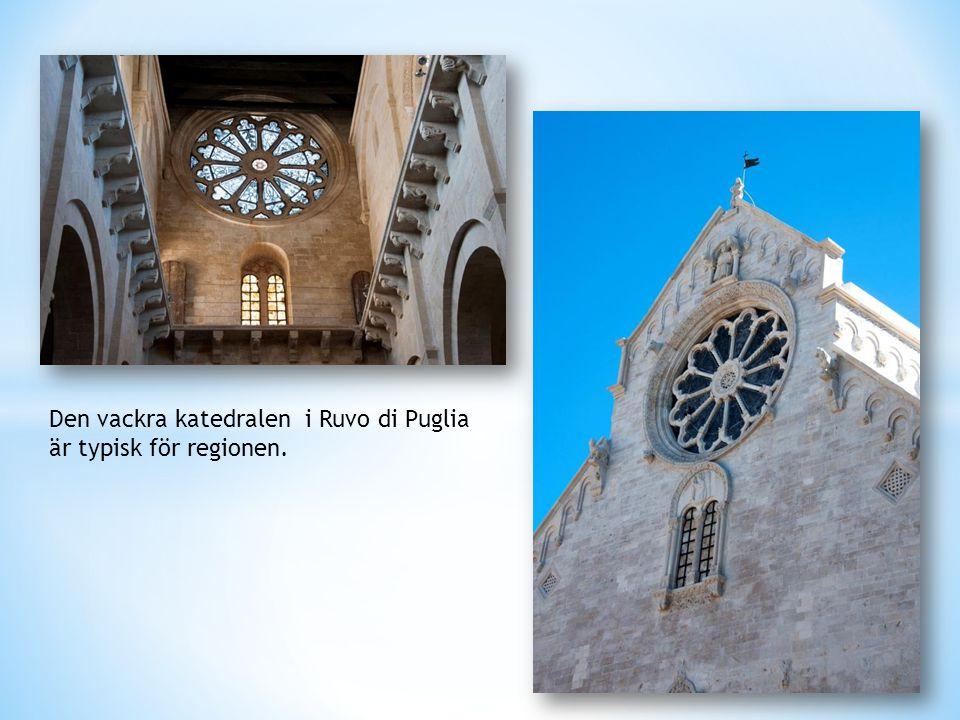 Den vackra katedralen i Ruvo di Puglia är typisk för regionen.