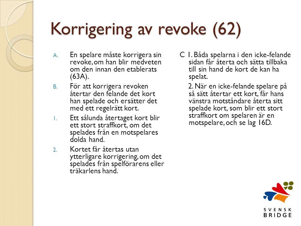 Korrigering av revoke (62)