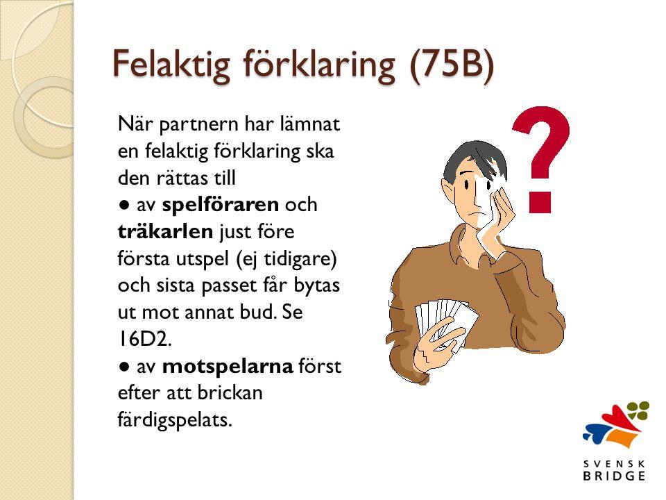 Felaktig förklaring (75B)