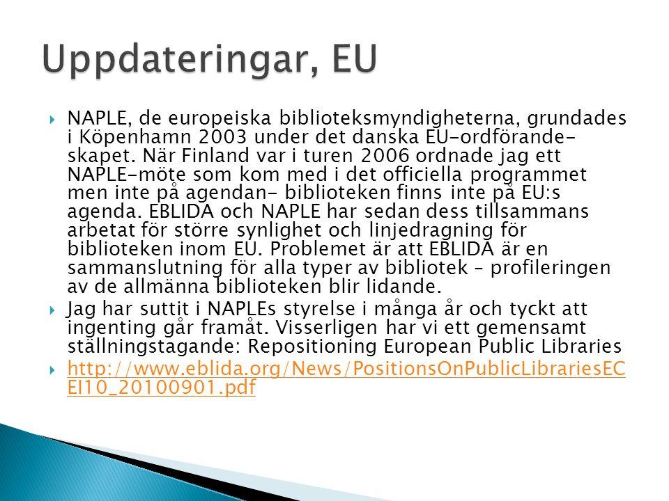 Uppdateringar, EU