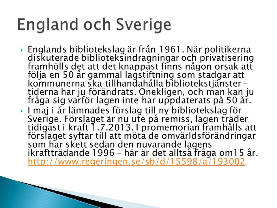 England och Sverige