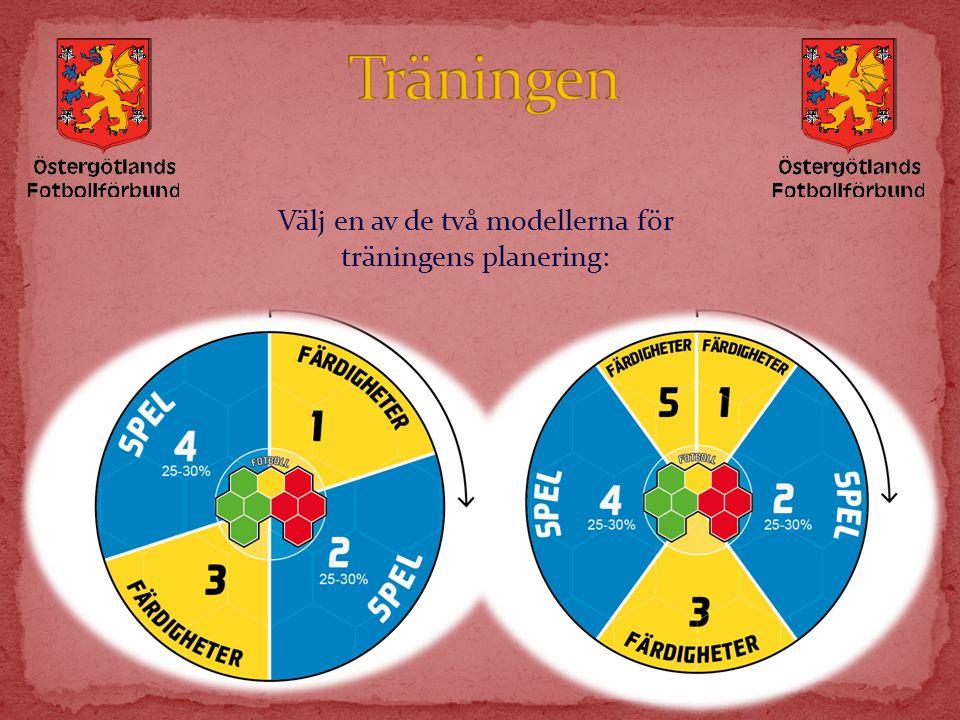 Välj en av de två modellerna för träningens planering: