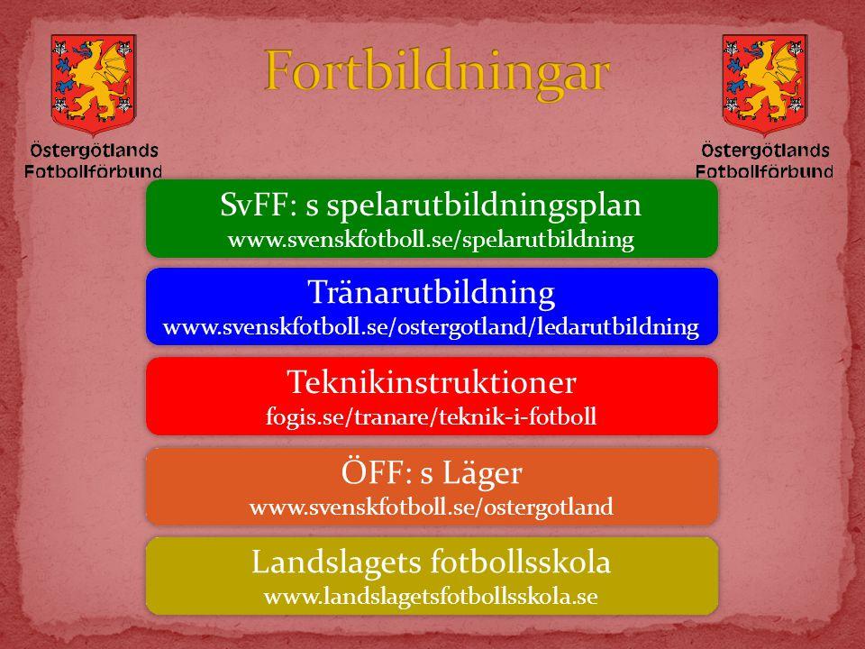 Fortbildningar SvFF: s spelarutbildningsplan Tränarutbildning