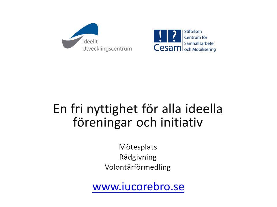 En fri nyttighet för alla ideella föreningar och initiativ
