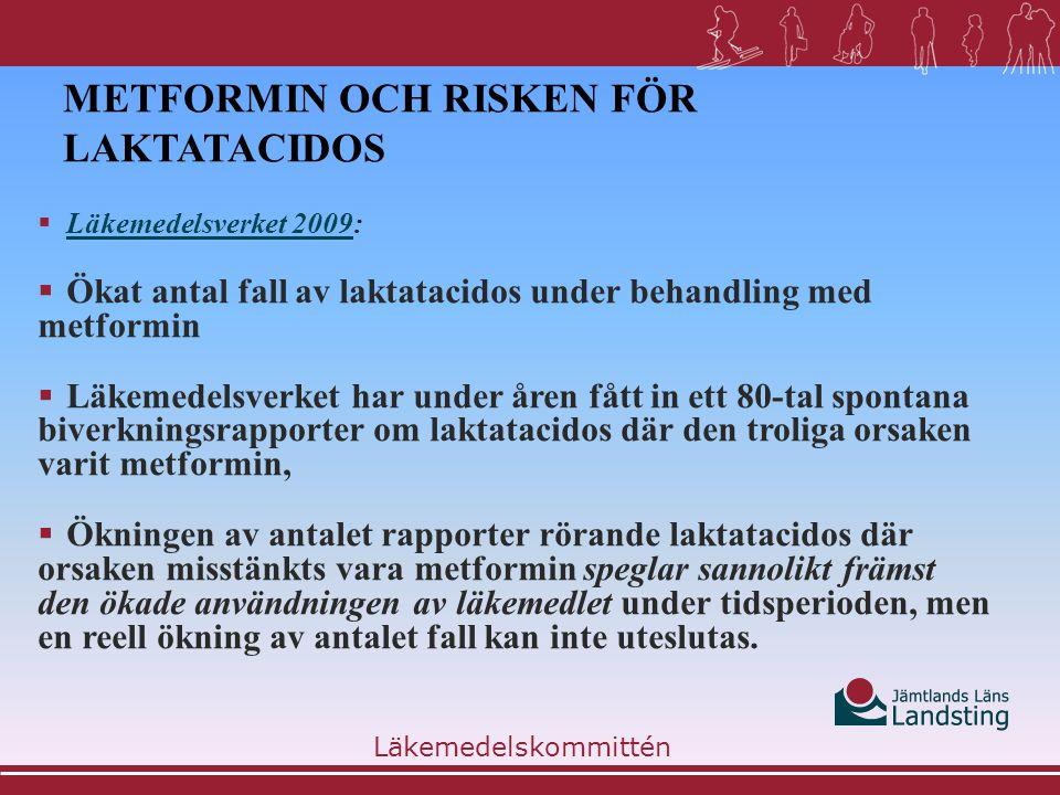 Metformin och risken för laktatacidos
